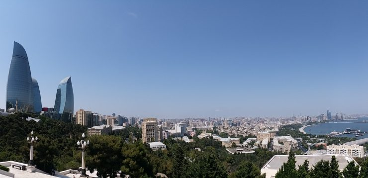 K in Motion Travel Blog. Beautiful Baku. View From the Top of the Hill
