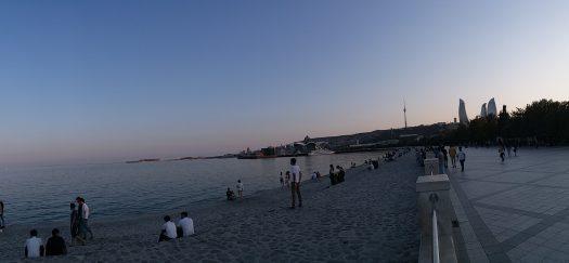 K in Motion Travel Blog. 9 Fun Things to do in Baku. Denizkenari  Milli Park/Baku Boulevard. Looking out to the Caspian Sea