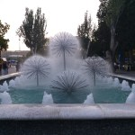 K in Motion Travel Blog. Beautiful Baku. Spiney Park Fountains