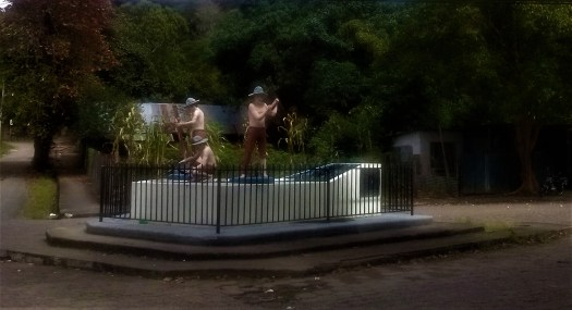 K in Motion Travel Blog. Mountain Adventures in Costa Rica. Strange Monument in Las Juntas