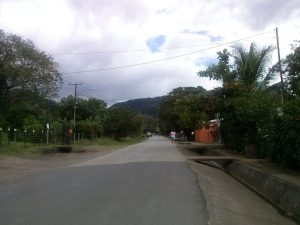 K in Motion Travel Blog. Mountain Adventures in Costa Rica. Quiet Street in Las Juntas