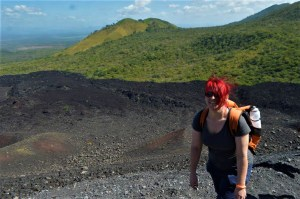 K in Motion Travel Blog. Love and Volcanoes in Nicaragua. Leon - Hiking up Cerro Negro