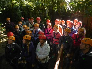 K in Motion Travel Blog. Mountain Adventures in Costa Rica. Monteverde Adventure Park Safety Briefing