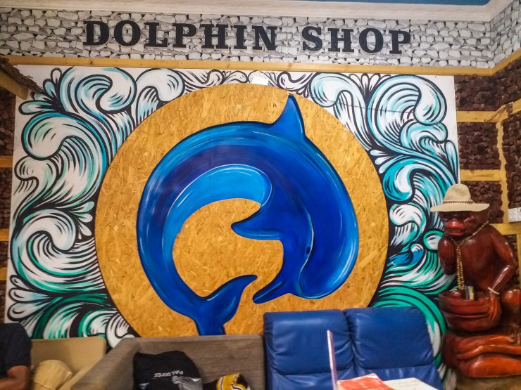 K in Motion Travel Blog. Travelling the Maldives on a Budget. Dolphin Shop on Himmafushi
