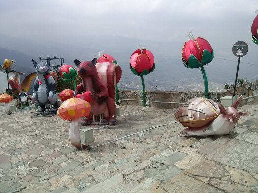 K in Motion Travel Blog. Contemporary Colombia and its Colourful Cities. Display at Monserrate