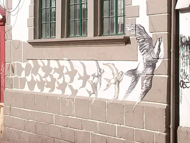 K in Motion Travel Blog. Contemporary Colombia Street Art. Bogota Stenciling
