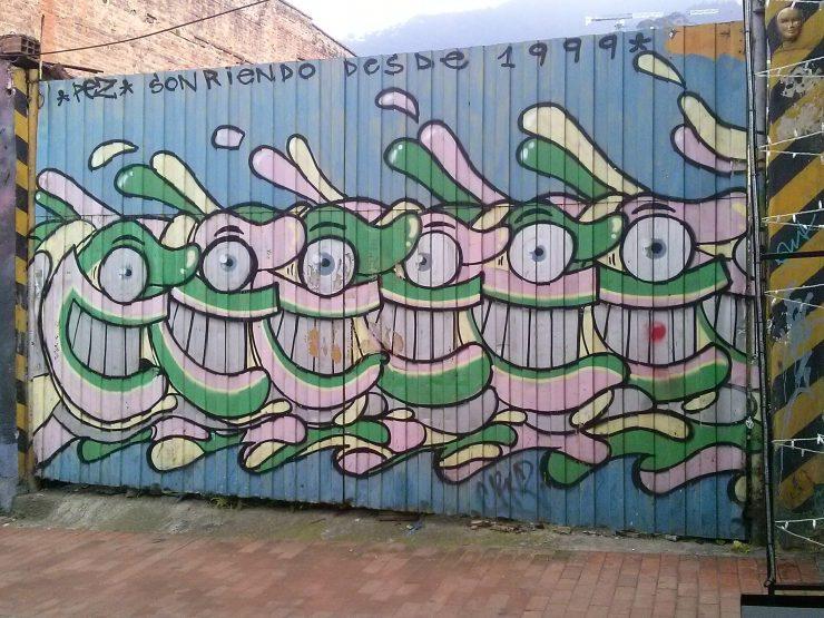 K in Motion Travel Blog. Contemporary Colombia Street Art. Bogota Mural