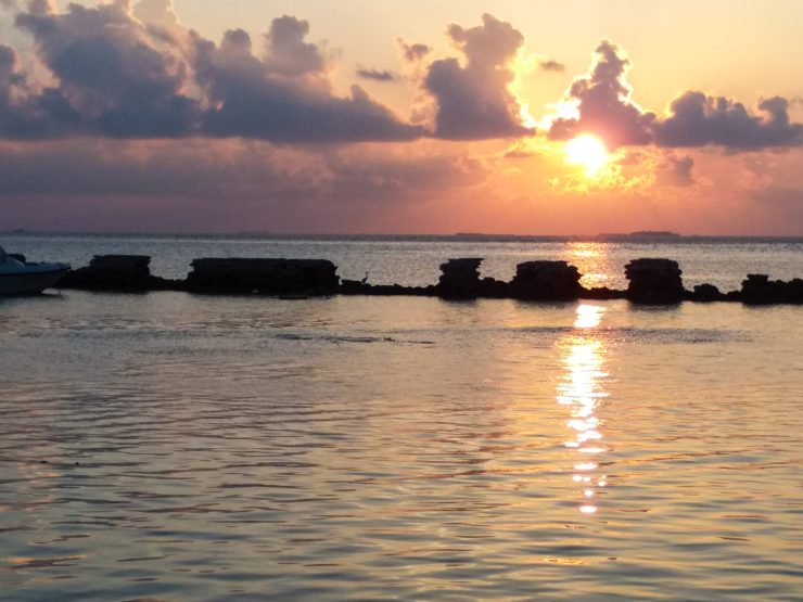K in Motion Travel Blog. Travelling the Maldives on a Budget. Himmafushi Sunset