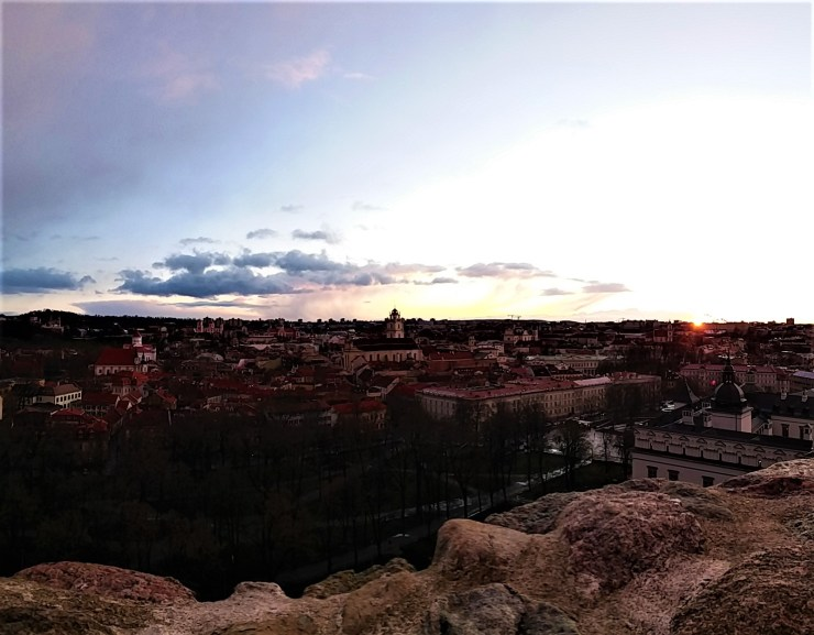 K in Motion Travel Blog. Old World Charm of Vilnius. City View From Gediminas Castle Tower