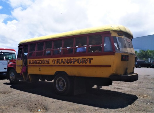 K in Motion Travel Blog. Surprising Samoa. American Style Bus