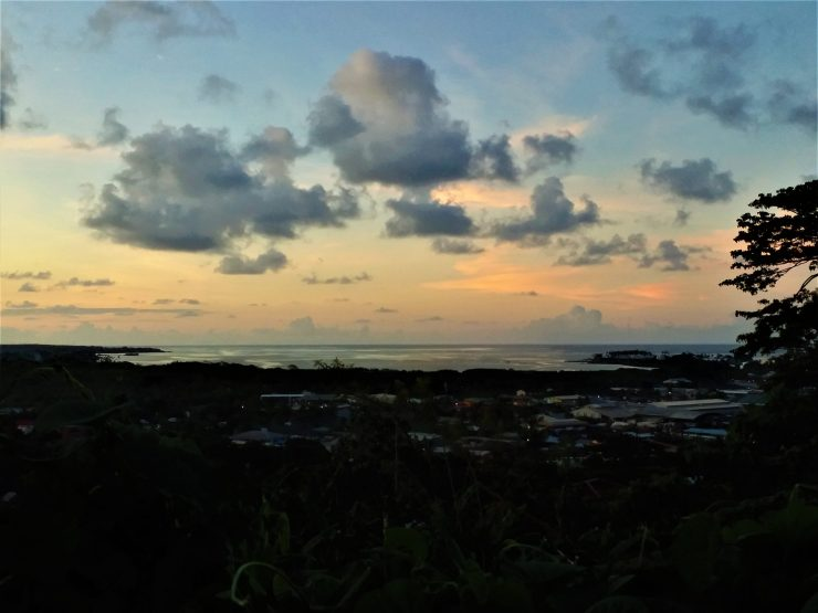 K in Motion Travel Blog. Surprising Samoa. Sunset Over The City