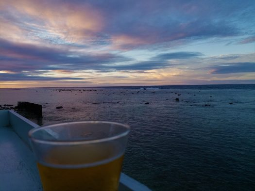 K in Motion Travel Blog. The Captivating Cook Islands. Beer And Sunset At The Pub