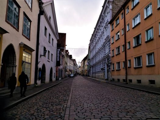 K in Motion Travel Blog. Discover Old and New Tallinn. Cobbled Street of the Old Town