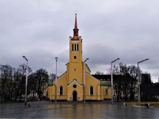 K in Motion Travel Blog. Discover Old and New Tallinn. St John's Church at Freedom Square