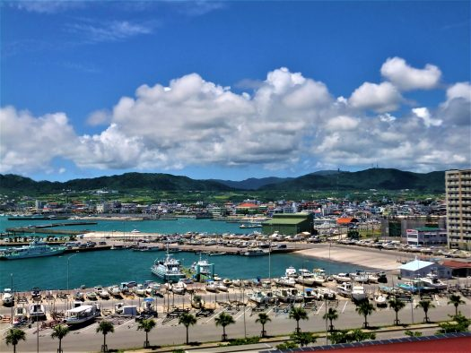 K in Motion Travel Blog. Scenic Cruise to Okinawa. Naha Port