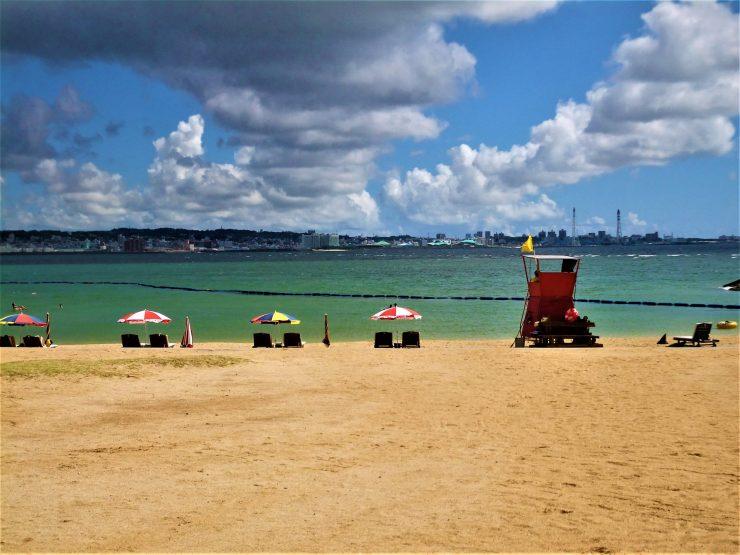 K in Motion Travel Blog. Scenic Cruise to Okinawa. Sunset Beach Naha