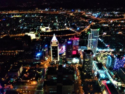 K in Motion Travel Blog. Travelling in Taiwan. Night View From Taipei 101