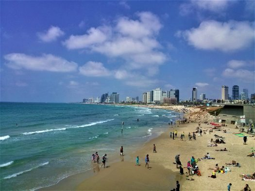 K in Motion Travel Blog. Interesting Sites in Southern Israel. Beach in Tel Aviv