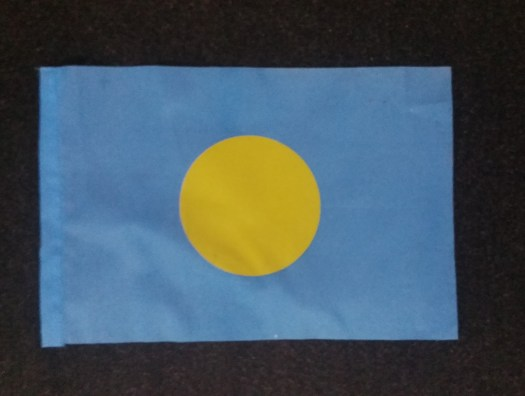 K In Motion Travel Blog. Untouched Pacific Paradise of Palau. Palauan Flag