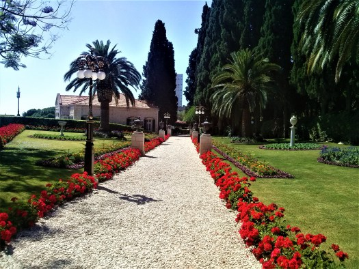 K in Motion Travel Blog. Historic and Natural Places to See in Northern Israel. Baha'i Gardens Path