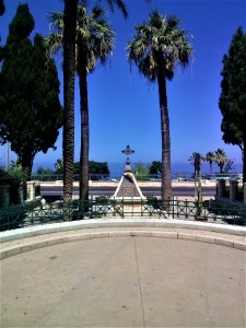 K in Motion Travel Blog. Historic and Natural Places to See in Northern Israel. Napolean Memorial at Stella Maris in Haifa