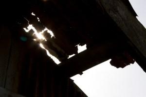 船頭小屋の屋根