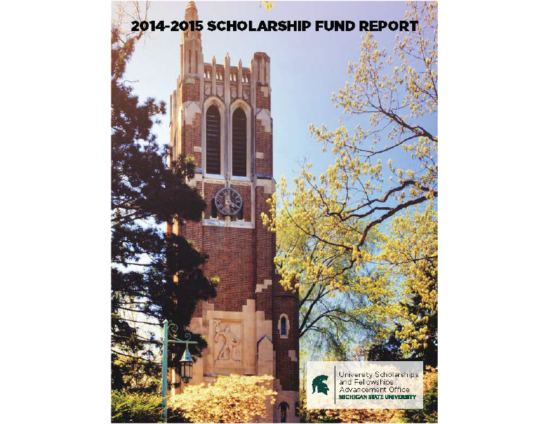 University Scholarships & Fellowships Donor Impact Report