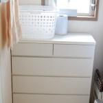 洗面所のチェストの収納力をとても単純にアップさせました!