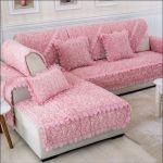 Shop Anti Skid Plush Sofa Cover Pink Online In Dubai Abu Dhabi And All Uae