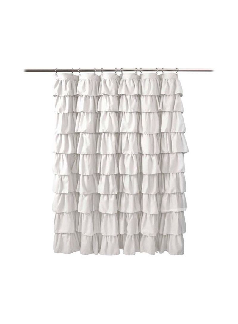 Buy Now Lush Decor Ruffle Shower Curtain White With Fast Delivery And Easy Returns In Dubai Abu Dhabi And All Uae