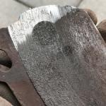 Bremsbelag hinten Fahrerseite, Eisen auf Eisen