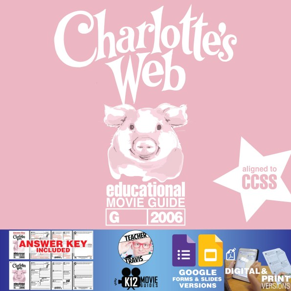 Charlotte's Web Movie Guide | Questions | Worksheet (G - 2006) Cover