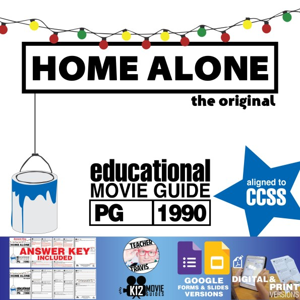 Home Alone Movie Guide | Questions | Worksheet (PG - 1990) Cover