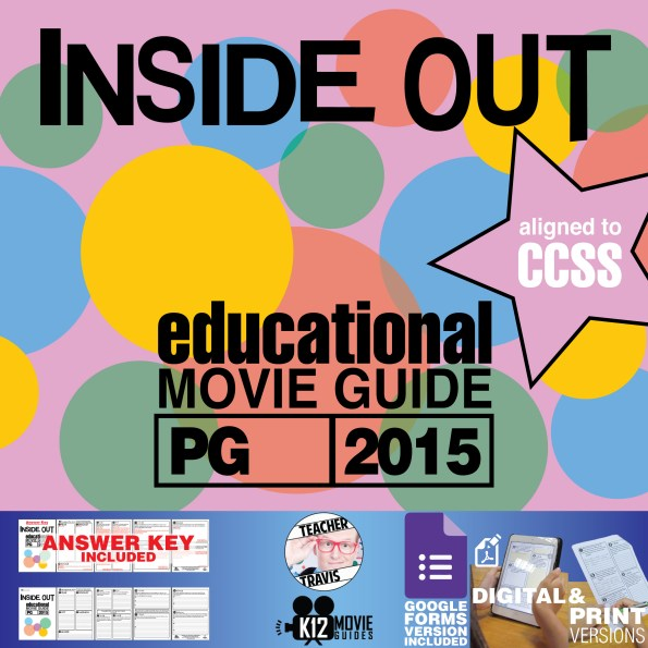 Inside Out Movie Guide Movie Guide | Questions | Worksheet (PG - 2015) Cover