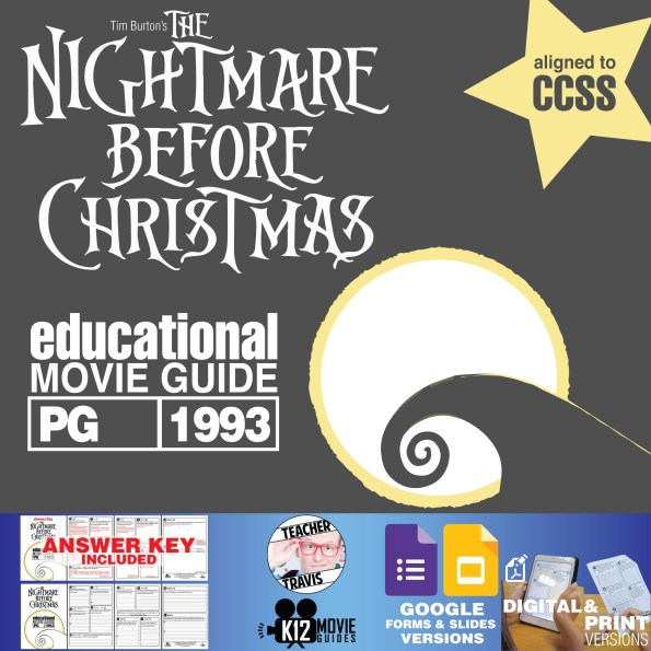 The Nightmare Before Christmas Movie Guide   Questions   Worksheet (PG - 1993) Cover