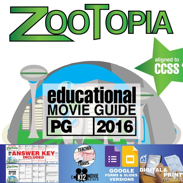 Zootopia Movie Guide | Questions | Worksheet (PG – 2016) Cover