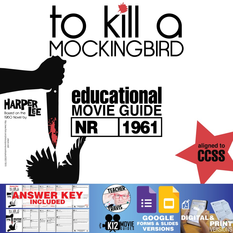 To Kill a Mockingbird Movie Guide | Questions | Worksheet (1962) Cover