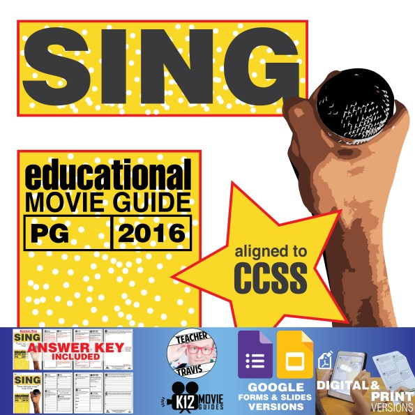 Sing Movie Guide | Questions | Worksheet (PG - 2013) Cover