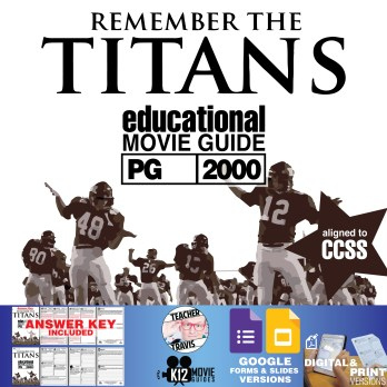 Remember the Titans Movie Guide | Questions | Worksheet (PG-2000) Cover