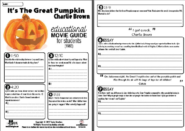 It's the Great Pumpkin, Charlie Brown Movie Guide Sample Questions
