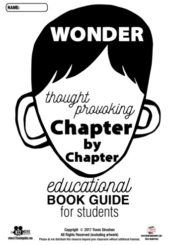 Wonder Movie and Book Study Guide Bundled Resource Questions Sample
