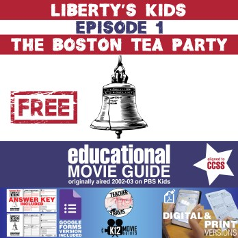 Liberty's Kids - The Boston Tea Party (E01) - Movie Guide | Worksheet Cover