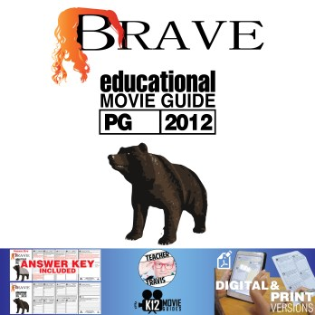 Brave Movie Guide | Questions | Worksheet (PG - 2012) Cover