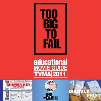 Too Big To Fail Movie Guide | Questions | Worksheet (TVMA - 2011) Cover