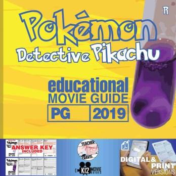 Pokémon Detective Pikachu Movie Guide | Questions | Worksheet (PG - 2019) Cover