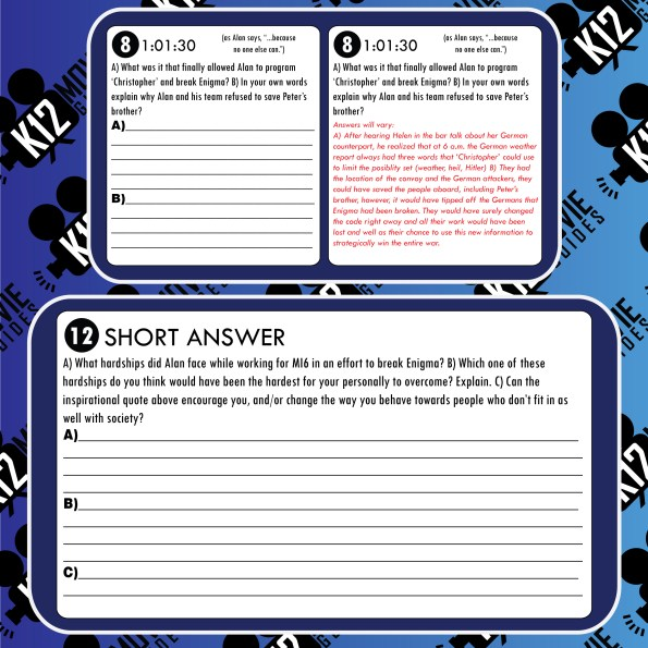 The Imitation Game Movie Guide   Questions (PG13 - 2014) Free Sample Questions