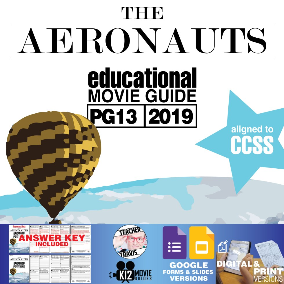 The Aeronauts Movie Guide   Questions   Worksheet (PG13 - 2019) Cover