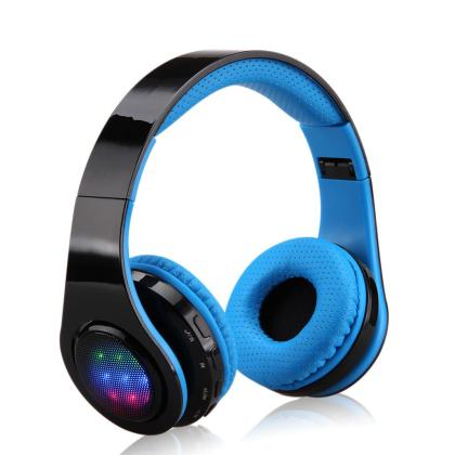 Comfortable Sport Headphone Center ST 3 Noise Cancelling Stereo Wireless One Touch Bluetooth Headphone With Memory Card Option for Kids, Children, Girls, Boys, Teens, Adults, Foldable Adjustable On Ear Headsets