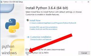 python install screen
