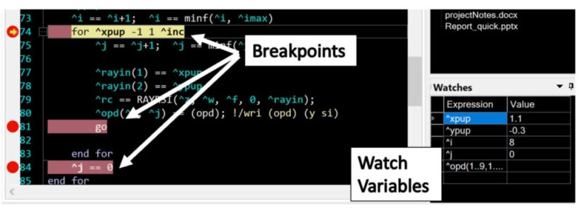 command window debugger for CODE V optical design software